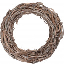 wholesale Artificial Flowers: Wreath Lani , D50cm, H8cm, white washed